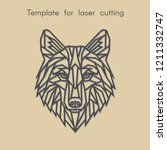 template animal for laser... | Shutterstock .eps vector #1211332747