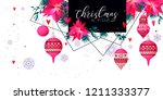 christmas holiday card in... | Shutterstock .eps vector #1211333377
