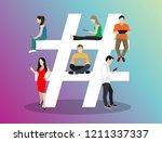 hashtag concept illustration of ...   Shutterstock .eps vector #1211337337