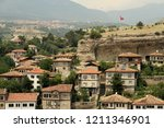 A view of historical Safranbolu houses from the Hidirlik hill in the town,  Karabuk Turkey.