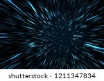 blue high speed space warp blur ... | Shutterstock . vector #1211347834