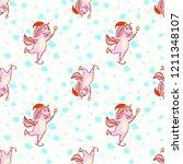 a festive magical unicorn...   Shutterstock .eps vector #1211348107