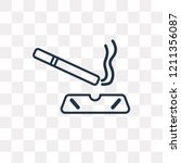 Cigarrete vector outline icon isolated on transparent background, high quality linear Cigarrete transparency concept can be used web and mobile