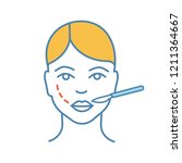 cheek lift surgery color icon.... | Shutterstock .eps vector #1211364667