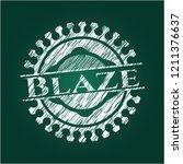 blaze chalkboard emblem written ... | Shutterstock .eps vector #1211376637