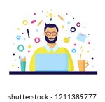 programmer or project manager... | Shutterstock .eps vector #1211389777