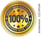 100  money back guarantee label | Shutterstock .eps vector #121139164
