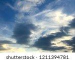 sunset and beautiful nature.... | Shutterstock . vector #1211394781