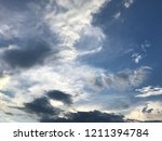 sunset and beautiful nature.... | Shutterstock . vector #1211394784