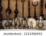 Traditional copper objects from a souvenir shop in Safranbolu, Turkey.