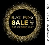 black friday sale gold glitter... | Shutterstock .eps vector #1211421514
