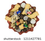 christmas plate with different... | Shutterstock . vector #1211427781