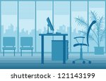 vector office interior | Shutterstock .eps vector #121143199