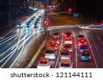 Highway At Night. Poland ...