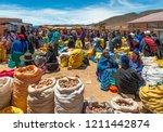 tarabuco  bolivia   october 14  ... | Shutterstock . vector #1211442874