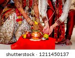 indian couple during wedding... | Shutterstock . vector #1211450137