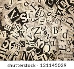 old paper with letters ... | Shutterstock . vector #121145029