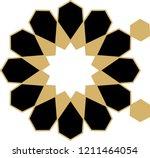 ottoman tile   tezhip motifs... | Shutterstock .eps vector #1211464054