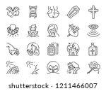 vampire line icon set. included ... | Shutterstock .eps vector #1211466007