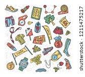 vector illustration of sport...   Shutterstock .eps vector #1211475217