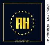 initial letter ah logo template ... | Shutterstock .eps vector #1211476804
