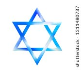 sky color sacred star of david... | Shutterstock .eps vector #1211480737
