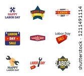 labor day final sale logo set.... | Shutterstock .eps vector #1211491114