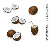 coconut vector illustration | Shutterstock .eps vector #1211498497
