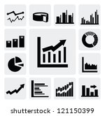 vector black business graph... | Shutterstock .eps vector #121150399