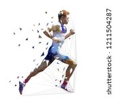 runner  low polygonal vector... | Shutterstock .eps vector #1211504287