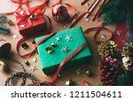 merry christmas concepts with... | Shutterstock . vector #1211504611