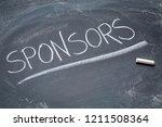 sponsors word   white chalk...   Shutterstock . vector #1211508364