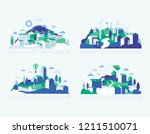 city landscape with buildings ... | Shutterstock .eps vector #1211510071
