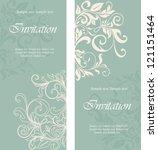 beautiful floral invitation... | Shutterstock .eps vector #121151464