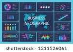 business infographic diagram... | Shutterstock .eps vector #1211526061