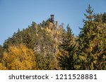 hiking in bohemian switzerland... | Shutterstock . vector #1211528881