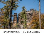 hiking in bohemian switzerland... | Shutterstock . vector #1211528887