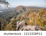 hiking in bohemian switzerland... | Shutterstock . vector #1211528911