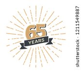sixty five years anniversary... | Shutterstock .eps vector #1211549887