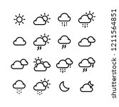 weather icon set | Shutterstock .eps vector #1211564851