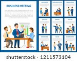 business meeting of team ... | Shutterstock .eps vector #1211573104