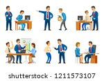 boss chief executive presenting ...   Shutterstock .eps vector #1211573107
