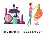 visage makeup visagiste... | Shutterstock .eps vector #1211575387