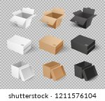 mockups of cardboards  delivery ... | Shutterstock .eps vector #1211576104