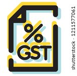 government tax   gst   icon as... | Shutterstock .eps vector #1211577061