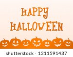 halloween poster with scary... | Shutterstock .eps vector #1211591437