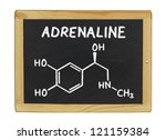 chemical formula of adrenaline... | Shutterstock . vector #121159384