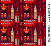 abstract seamless london... | Shutterstock .eps vector #1211604601