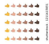 thumbs up  hand emoticon... | Shutterstock .eps vector #1211615851