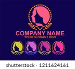 a symbol that shows the beauty... | Shutterstock .eps vector #1211624161